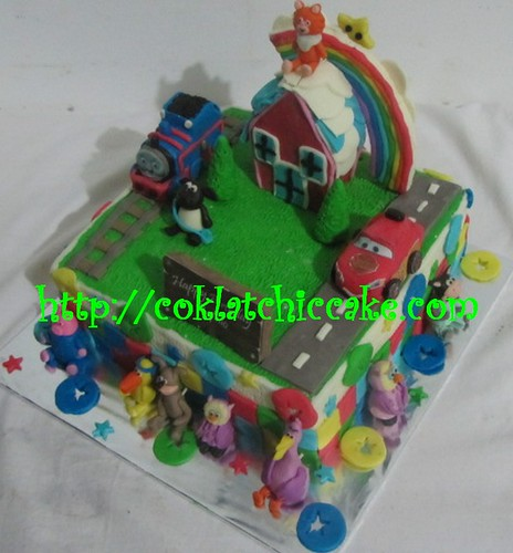 Kue ulang tahun thomas, cars dan shaun the sheep