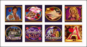 free Starlight Kiss slot game symbols