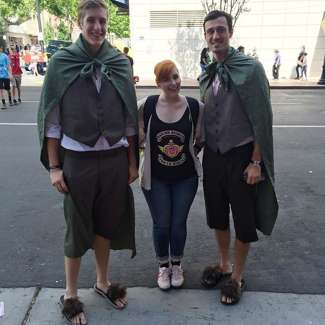 I just found the tallest hobbits in the shire! #sdcc #sdcc2015