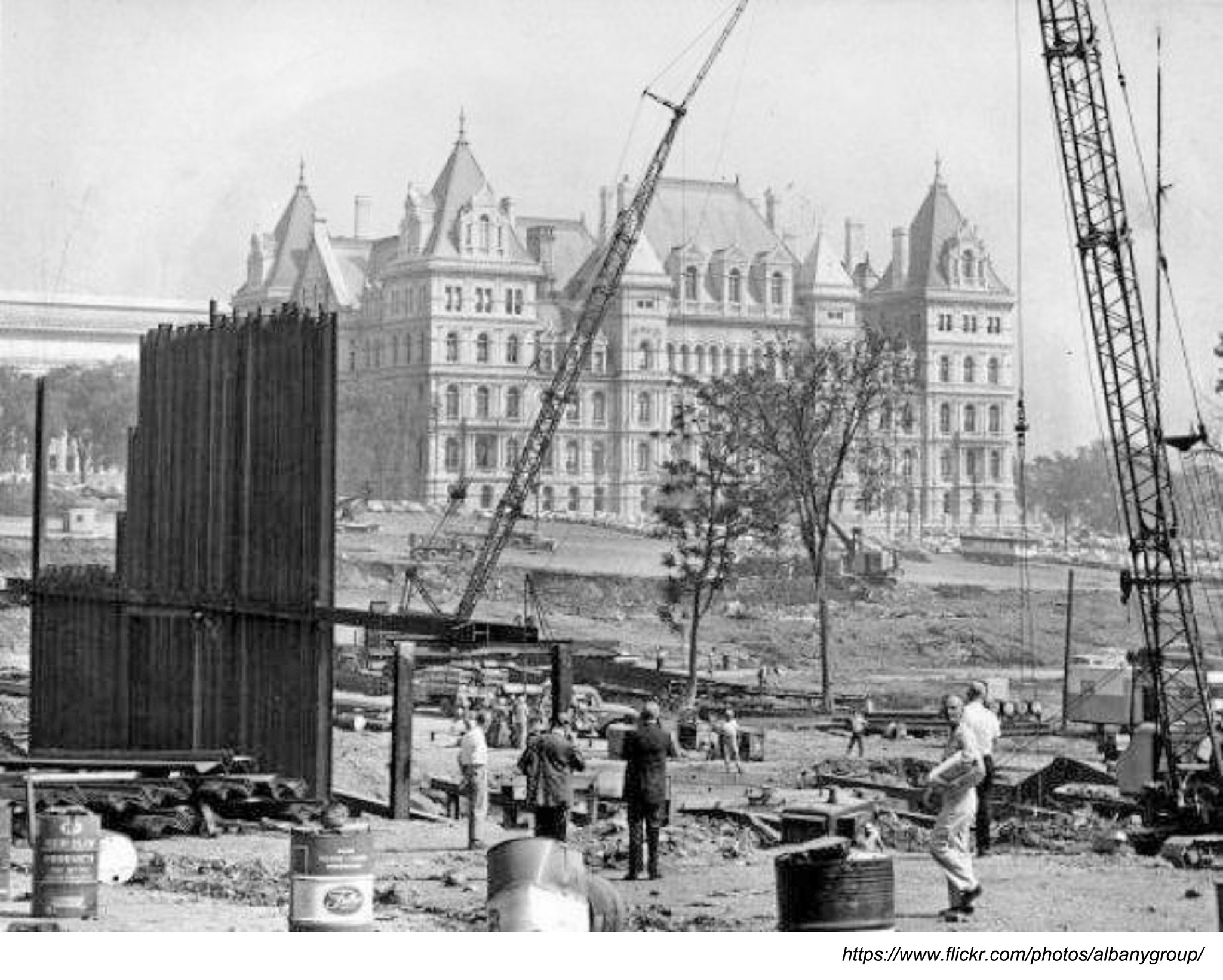 NYS Capital amid south Mall -empire state plaza construction late 1960s albany ny