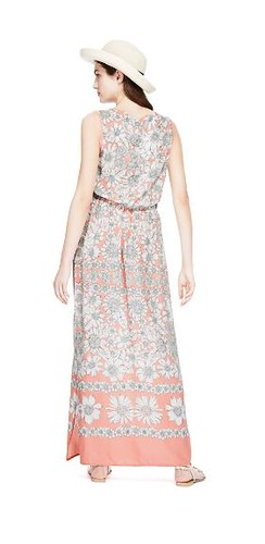 brand new mamps marks amp spencer peach floral maxi dress rrp