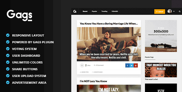 Gags WordPress Theme free download
