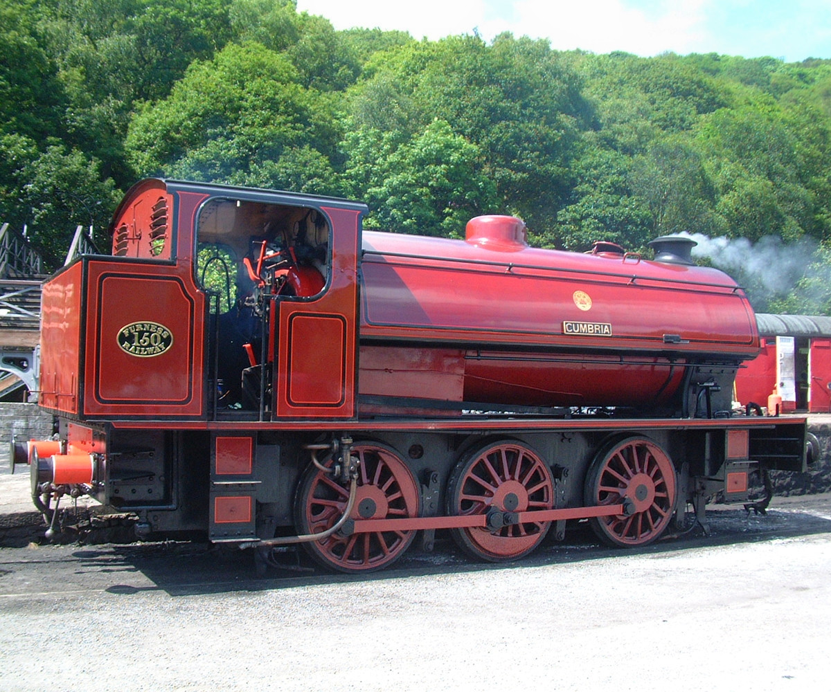 The Lakeside & Haverthwaite Railway Cumbria Steam Engine. Credit mattbuck