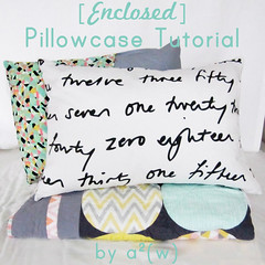 Enclosed Pillowcase Tutorial