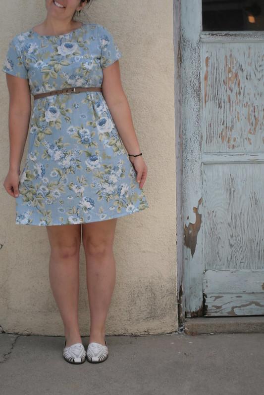 hemmed dress.
