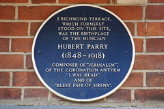 Photo of Hubert Parry blue plaque