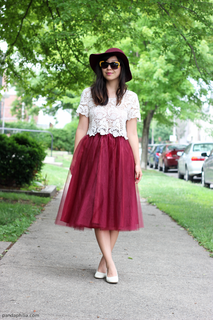 white and red summer outfit