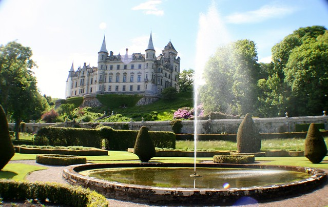 Dunrobin Castle Garden, Scottish Highlands