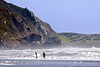 Surfers at Stinson Beach California