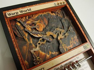 Warp World 3D Altered MTG Card Art from Magic the Gathering 3D magic cards