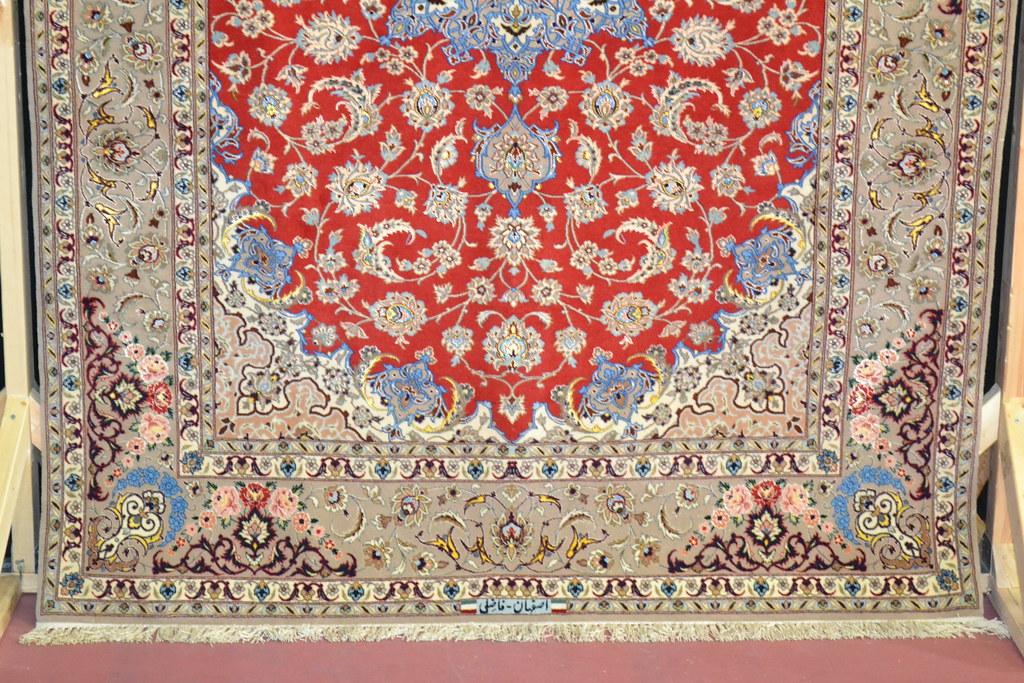 Isfahan Master Piece Silk Persian Area Rug 5x8