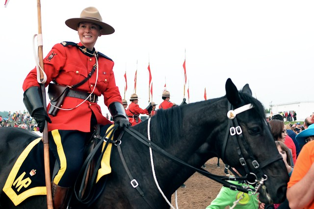 A Mountie and Her Horse