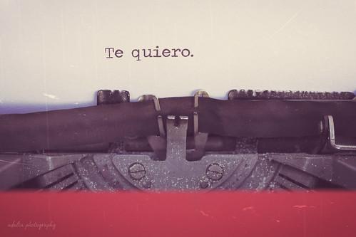 Te quiero (bis).