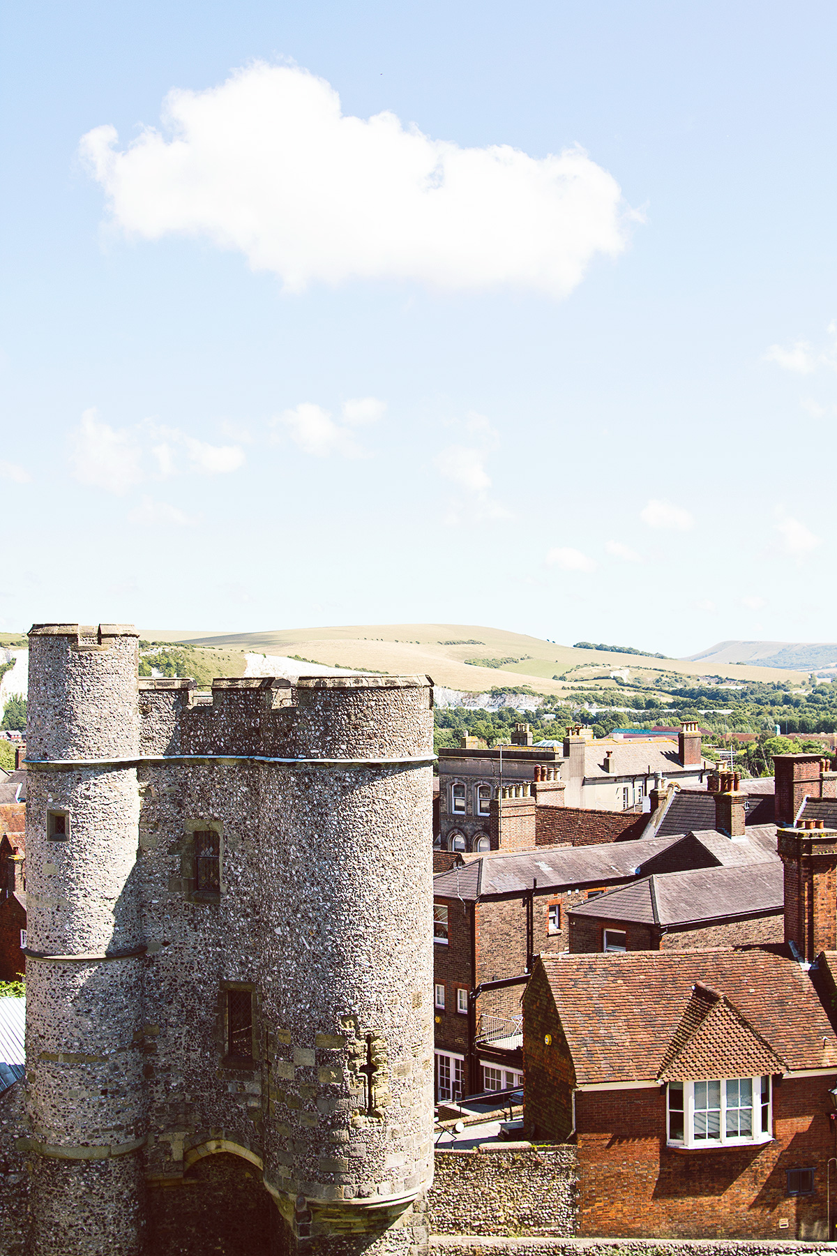 Barbican gate from Lewes Castle
