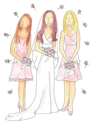 Rosie & her bridesmaids
