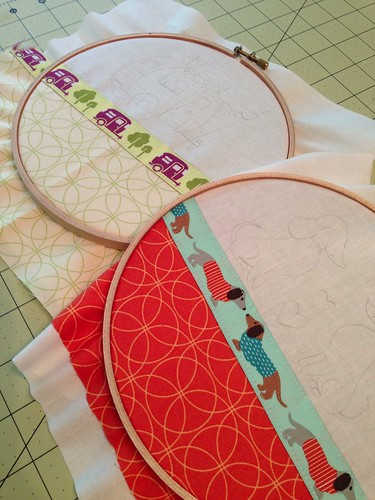 WIP: ribbon themed hoops