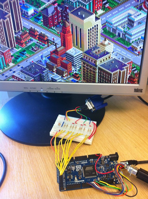 Arduino Due VGA Out Simcity Test