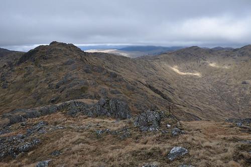 Bealach an Sgriodain and the ridge round to Meall nan Creag Leac