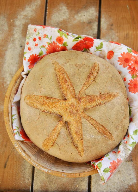 rosemary sourdough bread for world bread day