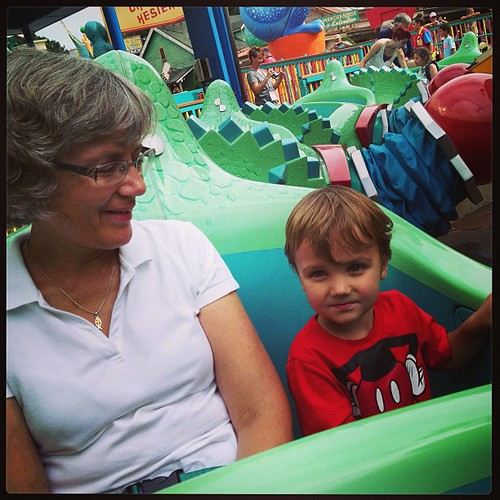 Disney ride with Meemaw!