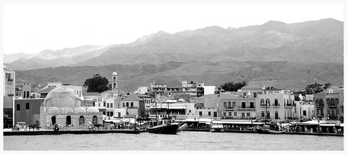 Black and White View of Chania, Crete, Greece by susan wellington
