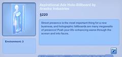 Aspirational Adz Holo-Billboard by Arasika Industries