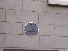 Photo of Tom Walsh blue plaque