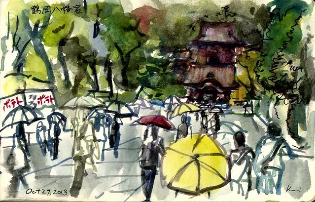 Kamakura rainy day