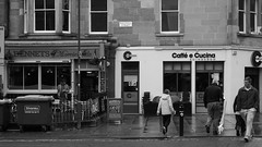 "the Morningside part of Edinburgh on a wet afternoon, make your choice: left for beer or right for coffee! Confusingly there is another Bennets bar not that far from this spot, only about 15 minutes walk away in Tollcross, guessing that's why this ones adds the ""of Morningside"" part to dif..."