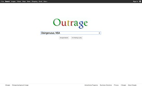 GOOGLE OUTRAGE by WilliamBanzai7/Colonel Flick
