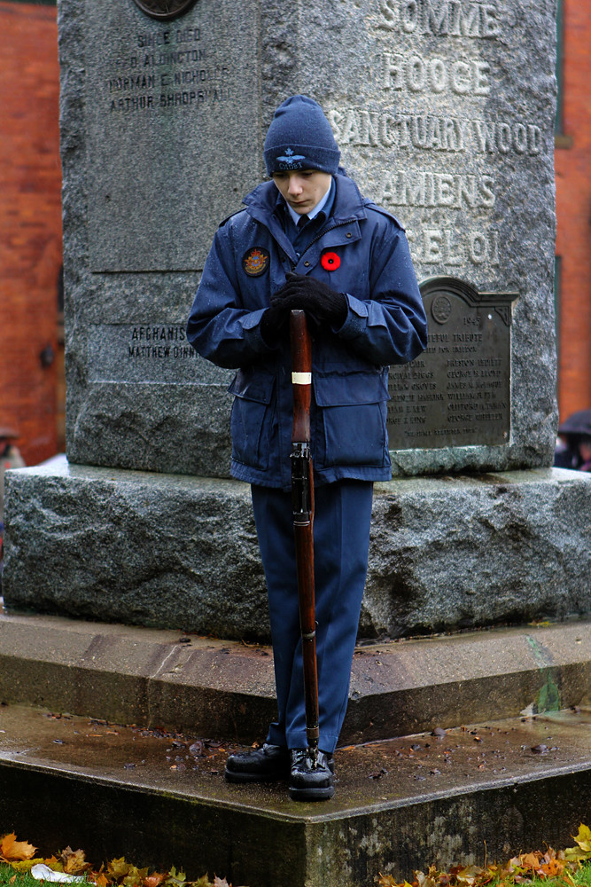 Remembrance Day at Wingham Cenotaph