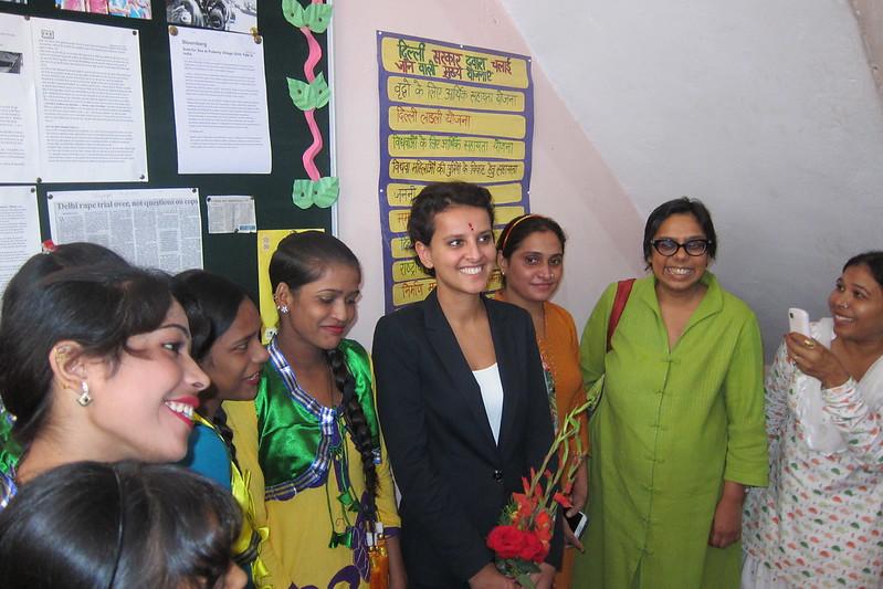 Najat Vallaud-Belkacem et Ruchira Gupta