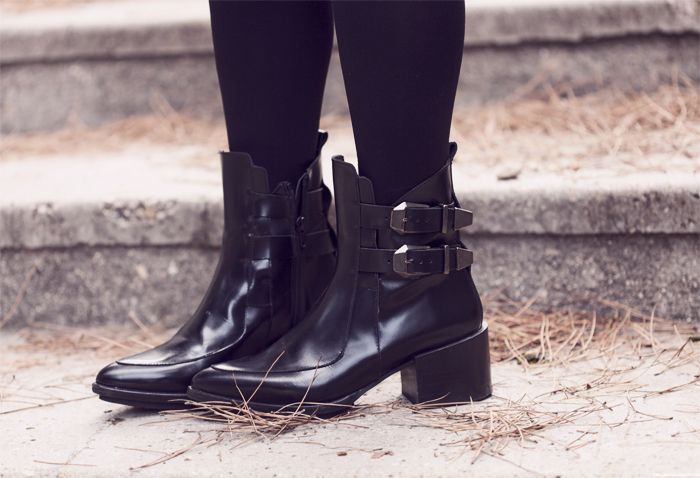 street style barbara crespo textures fashion blogger zara leather jacket skirt eleven paris shirt outfit