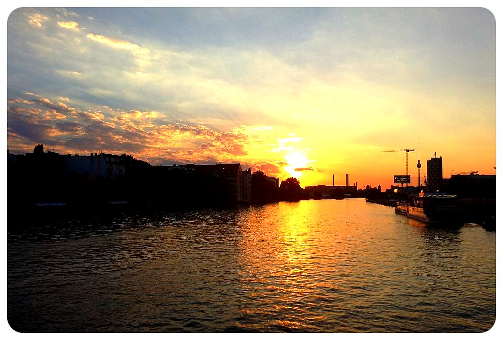berlin spree sunset