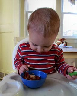 Boy Eats Lunch