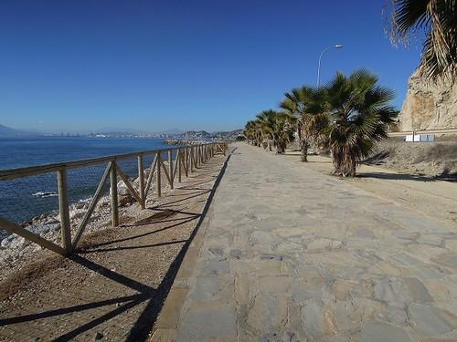 海沿いの歩道