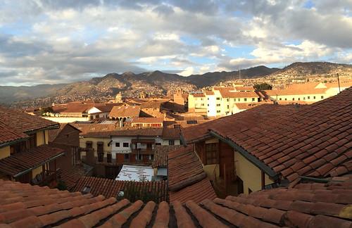 travel urban panorama peru southamerica sunrise cusco