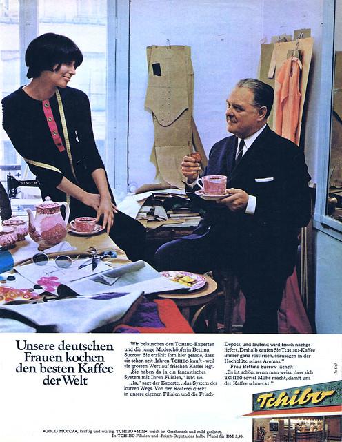 Team Werbeagentur (Düsseldorf, DE) 1967 Unsere deutschen Frauen kochen den besten Kaffee der Welt (Tchibo) Anzeige