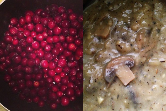 Cranberry and gravy