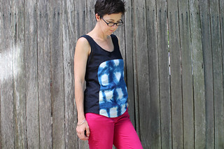 Shibori Polly top front 2