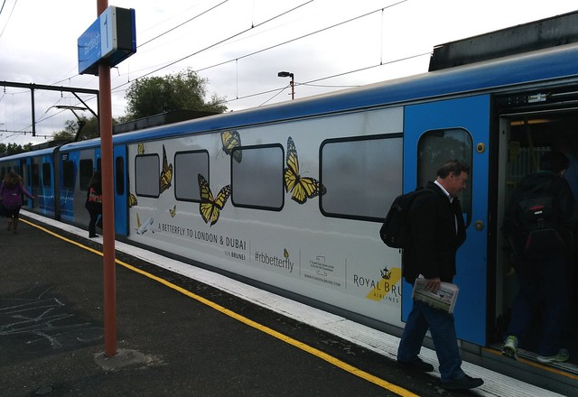 Outside advertising on trains