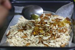 Honey+oil+oats+almonds