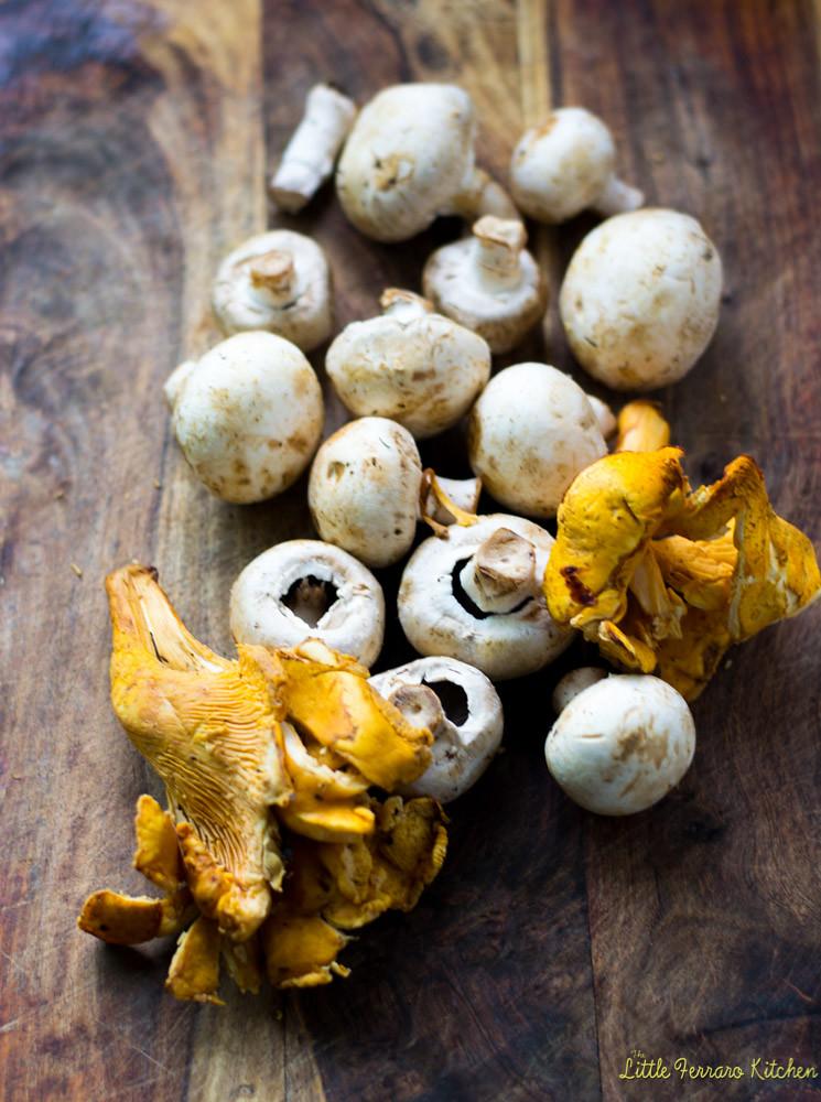 Roasted Mushroom Crostini with Wine and Herbs via LittleFerraroKitchen.com