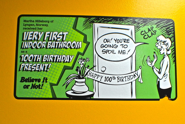 Ripley's Believe It or Not Orlando - bathroom facts