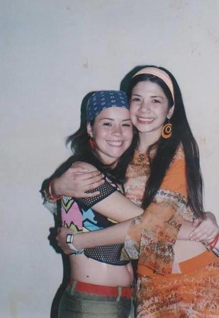 Anabel Angus junto a Camila Flores