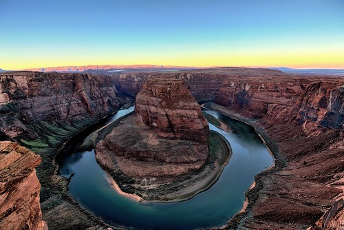 arizona nature sunrise williams unitedstates cliffs canvas coloradoriver blueskies portfolio day3 hdr lookingwest cliffface glencanyonnationalrecreationarea horseshoebend project365 colorefexpro eccezionale hdrefexpro nikond800e 1000feet300mdrop lookingtovermilioncliffsnationalmonument