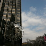 The globe at Columbus Circle