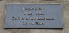 Photo of John Kay bronze plaque