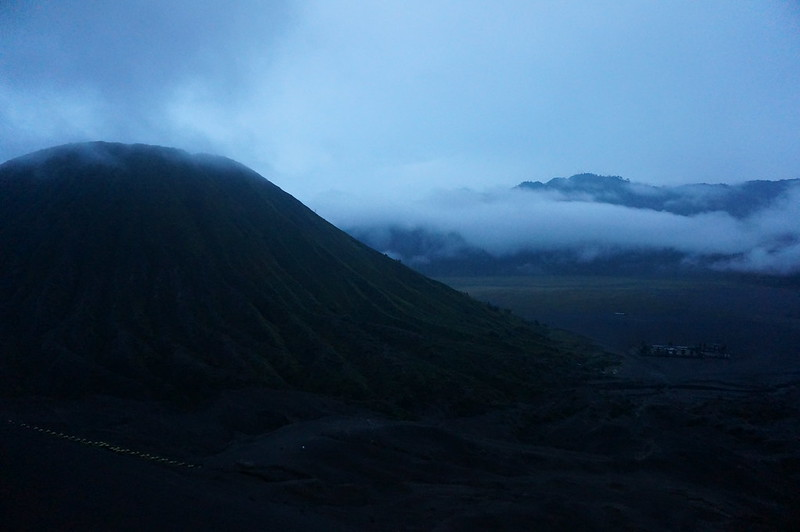 View from the top of Mount Bromo
