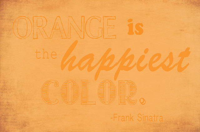 orange frank sinatra quote